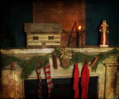 "Christmas past. Love the little ""log"" cabin."