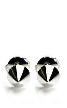 White Gold Muse Studs by Elise Dray