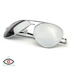 Polarized Full Mirror Silver Aviator Sunglasses Get yours AT http://EmblemEyewear.myshopify.com/collections/polarized-sunglasses/products/polarized-full-mirror-aviator-sunglasses
