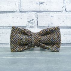 Harris Tweed Bow Tie - Multi autumnal colours, herringbone weave