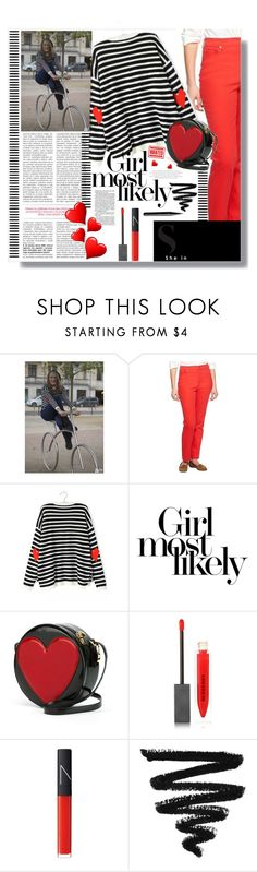 """""""sweater from Sheinside!!!"""" by meyli-meyli ❤ liked on Polyvore featuring Liz Claiborne, Moschino, Burberry, NARS Cosmetics and Marc Jacobs"""