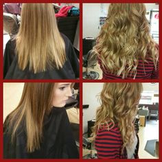 Extentions before and after!!  Studio Red.  Martins Ferry,  Ohio.
