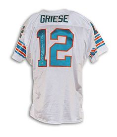 "Bob Griese Miami Dolphins Autographed White Throwback Jersey Inscribed """"17-0"""""