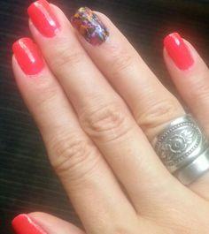 Splatter accent nail. #nails My digits.