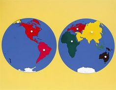 montessori continent map - this is awesome for starting out - Although it is large - it is worth it!
