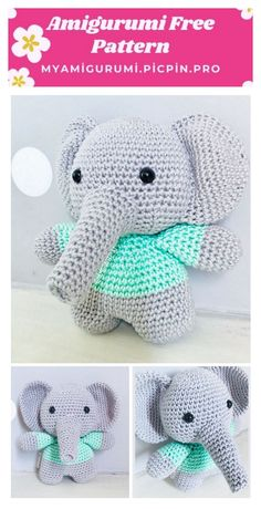 We continue to share the latest amigurumi toy patterns. In this article I will share with you amigurumi elephant necati free crochet pattern. Crochet Amigurumi Free Patterns, Crochet Animal Patterns, Crochet Doll Pattern, Stuffed Animal Patterns, Doll Patterns, Knitted Dolls, Crochet Dolls, Cute Crochet, Crochet Crafts