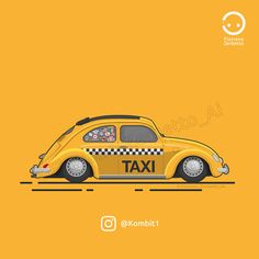 KombiT1: VW Beetle Yellow Taxi Low