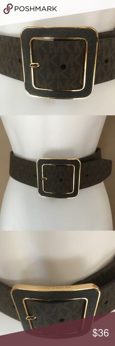 Michael Michael Kors Large Buckle Belt Michael Michael Kors Belt   •STYLE: Buckle belt with elastic stretch back •COLOR: Brown, Gold tone hardware •SIZE: Various Available  (S/M L/XL) •CONDITION: New without tag                 M192997K MICHAEL Michael Kors Accessories Belts