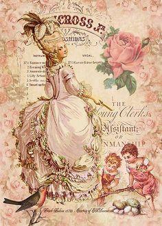 Postal Maria Antonieta vintage.