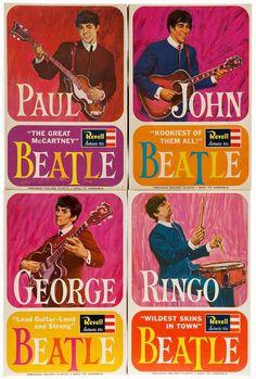 1964 Revell Beatles Model Kits  ♥♥Beatle Paul♥♥  ♥♥Beatle John♥♥  ♥♥♥♥Beatle George♥♥♥♥  ♥♥Beatle Ringo♥♥