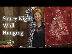 ▶ Starry Night Wall Hanging Quilt Panel Project - YouTube