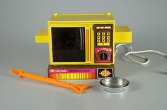 Easy bake oven, when baking a cake with a light bulb was cool.