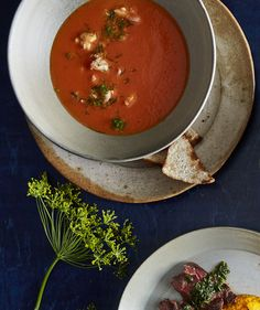 Tomato and Shrimp Bisque with Toast | Think of this as a grown-up version of a…