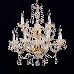 Weinstock Lighting 9012-12H 12 Light Crystal Chandelier. $660.00