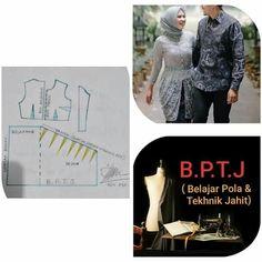 Kebaya Brokat, Pattern Making, Pattern Fashion, Sewing Projects, Sewing Patterns, Womens Fashion, Model, Dresses, Tie