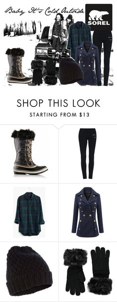 """""""Introducing the 2015 Winter Collection from SOREL: Contest Entry"""" by jessieholloway13 ❤ liked on Polyvore featuring SOREL, Madewell, Accessorize and Forever 21"""