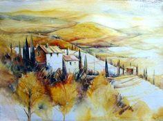 Landschaft bei San Quirico, Toskana