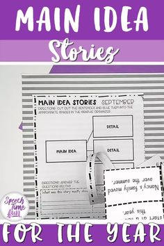Want a way to work on main idea at the story level? Want more main idea activities without the prep?! Use this print and go pack throughout the entire year! Help your speech and language students grasp this skill and build confidence!