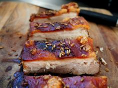 petite kitchen: slow roasted fennel and apple pork belly