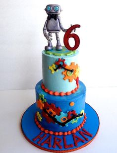 Robot+Cake+Ideas | Robot Cake by Mamabakescakes | Cake Decorating Ideas