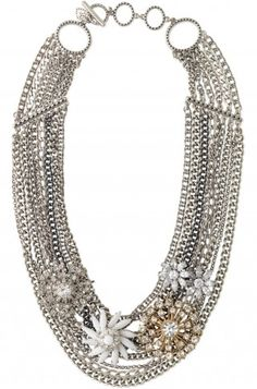 Metropolitan Mixed Chain Necklace: If I were going to splurge on jewelry this would be it:) $198
