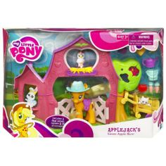 "NIB MY LITTLE PONY ""APPLEJACK'S SWEET APPLE BARN SET"" HASBRO 2010"