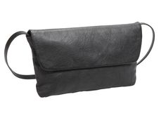 Ladies leather clutch bag with shoulder strap and zipped pocket - N_Leather - NAVA