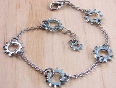 Chain Bracelet Steampunk Hardware Jewelry by additionsstyle