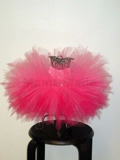 Ombre Fuchsia and Hot Pink Pixie Fairy Tutu Pink by mamamadebows