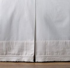 RH baby&child's Double Ring Appliqué Crib Skirt:Chains of striped muslin appliqués crisscross our light and airy cotton nursery bedding to form a classic ring pattern; its tonal color palette soothing infants – and their parents.