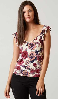 Floral Tops : Daytrip Ruffle Tank | Buckle