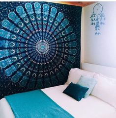 www.jaipurhomedecor.com Hippie mandala tapestry for Wall Decor, Wall hanging, Room decor, Psychedelic tapestry