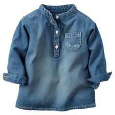Carter's Baby Girl Chambray Henley