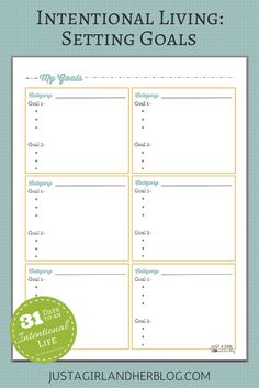Love this method of setting goals with action steps in order to be more productive! | JustAGirlAndHerBlog.com