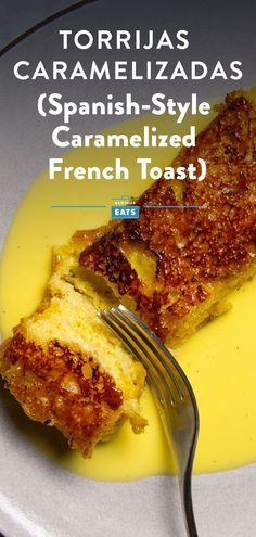 Spain's custardy, crunchy, and creamy answer to French toast. #Breakfast #Brunch #SpanishCuisine #EasyRecipes #SeriousEats Brunch Recipes, Breakfast Recipes, Fun Recipes, Amazing Recipes, Recipe Ideas, Sweet Wine, Fresh Bread, Breakfast Time, Gourmet