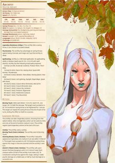 Post with 0 votes and 24126 views. My stat block for very powerful summer themed Archfey! Dungeons And Dragons Homebrew, D&d Dungeons And Dragons, Dnd Characters, Fantasy Characters, Magical Creatures, Fantasy Creatures, Character Concept, Character Art, Dnd Stats