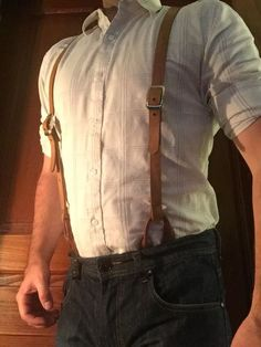 Make Leather Suspenders