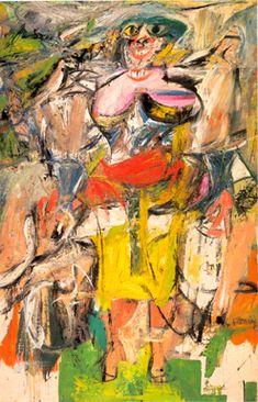 Willem De Kooning Woman and bicycle (1948) Ce qui est nouveau : La maladresse, défaillance technique : Cet artiste : un docteur et peintre par passion. On est dans une expression brut pas forcement cultivé (au niveau antique etc) il est plus dans une culture courte.