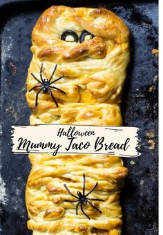 A fun, festive, and easy Halloween Mummy Taco bread made with Rhodes dinner rolls. The bread is loaded with taco meat and cheese. Kids and adults love this cheery taco stuffed bread. A perfect addition to your Halloween celebration. How To Make Taco, How To Make Bread, Fall Recipes, Holiday Recipes, Party Recipes, Lunch Recipes, Bread Recipes, Keto Recipes, Cooking Recipes