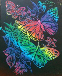 Butterfly scratch art