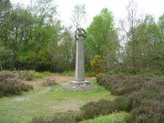 Celtic cross on Gibbet Hill, Hindhead, Surrey, England.