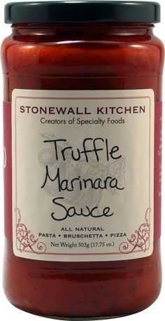 Stonewall Kitchen Truffle Marinara Sauce -- 17.75 oz - Vitacost