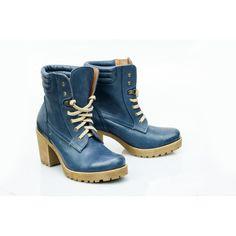 Kožené dámske topánky modrej farby - fashionday.eu
