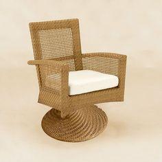 Woodard Trinidad Wicker Lounge Chair with Cushion - 6U0072x
