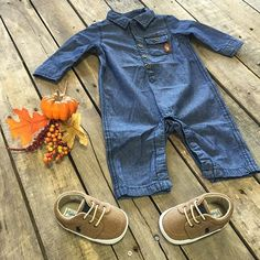 """Come get your baby boy fall ready with us! #7fam #Denim #Layette $48.99 0/3-6/9, 12M, 24M #Polo #Khaki #Kicks $39.99 1-3 We #ship! Call to order! 903.322.4316 #shopdcs #goshopdcs #instashop #shopfall #shopbaby #babyboy"" Photo taken by @daviscountrystore on Instagram, pinned via the InstaPin iOS App! http://www.instapinapp.com (10/09/2015)"