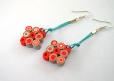 Clay rolls earring - Summer Square Earrings  by Angela.B, via Flickr