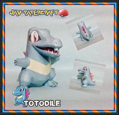 Pokemon - Totodile Ver.4 Free Papercraft Download - http://www.papercraftsquare.com/pokemon-totodile-ver-4-free-papercraft-download.html