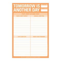 Knock Knock Tomorrow is Another Day Pad is a new Knock Knock notepad for to-do lists, tasks, calls, errands, and chores! Perfect gift for coworkers & family. Christmas Gifts For Coworkers, Funny Christmas Gifts, Christmas Humor, Planner Pages, Printable Planner, Free Printables, Life Planner, Knock Knock Notes, Funny Lists