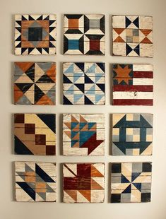 "The Civil War Barn Quilt Block of the Month is a set of twelve of the classic quilt blocks from the Civil War Era. The set include, a 12""..."