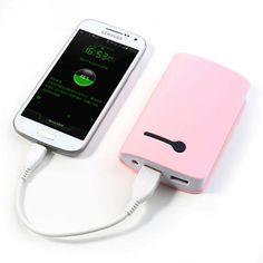 Power Bank 8400 mAh 2 USB color rosa con linterna #friki #android #iphone #computer #gadget
